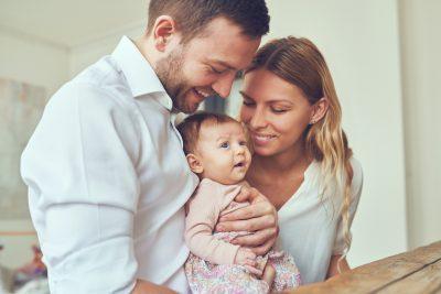 Ehepaar mit Kind