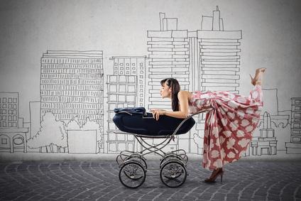 Mutter mit Baby aus Reise